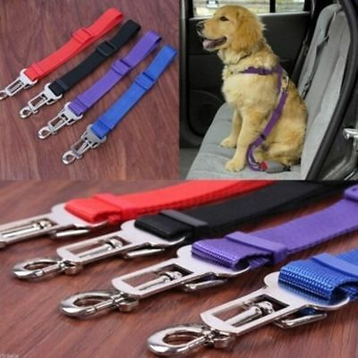 Pets Car Seat Belts Safety Vehicle Strap Cat Dogs Adjustable Nylon Harness Lead