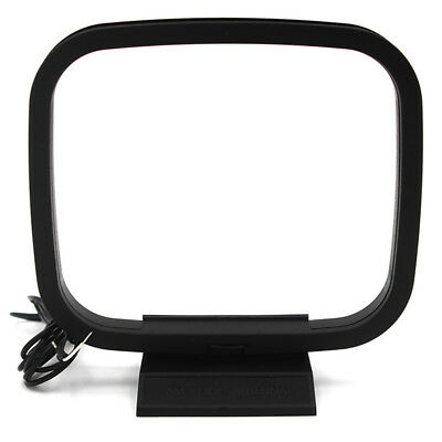 Indoor AM FM Loop Antenna Aerial Connector for StereoAudio Receiver System