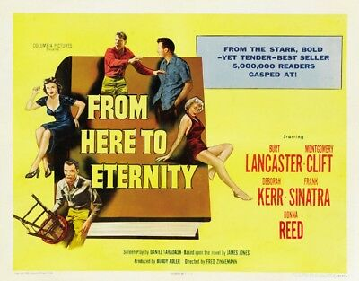 FROM HER TO ETERNITY movie / film poster - linen backed half sheet - Sinatra