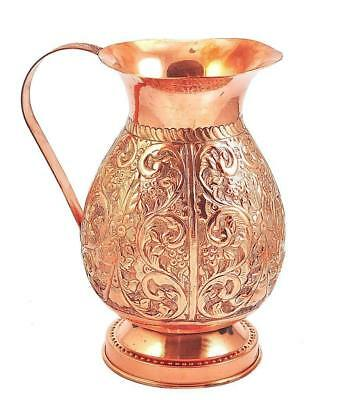 Pure Copper Water Jug/Copper Pitcher for Ayurveda Health Benefit 100 %