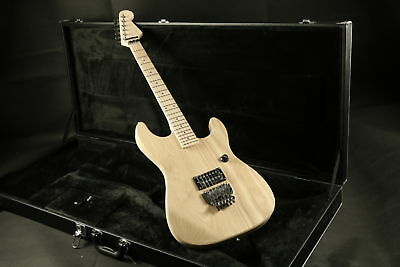 Unfinished ST Electric Guitar Kits Floyd Rose Bridge ASH Body Fingerboard  Maple