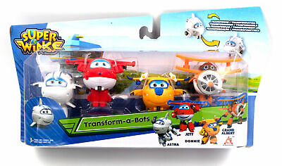 Auldey Toys Super Wings Mini Transform a Bots Astra Jett Donnie 4er Pack