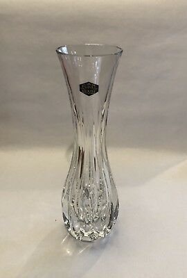 "Vintage St. Louis Crystal Vase France Approx 10"" x 3-1/4"" In Box"