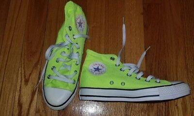 61827beeb786 ... sweden chuck taylor converse all stars high top lime neon green mens  5.5 womens 7.5 328e4