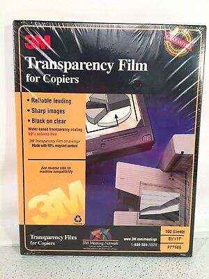 3M Transparency Film For Copiers 100 Count PP2500