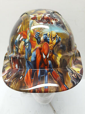 safety hard hat / helmet - super hero custom design- fully BS EN397 compliant