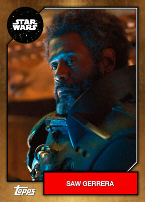 Topps Star Wars Card Trader 2019 Base BRONZE Saw Gerrera [DIGITAL CARD] 500cc