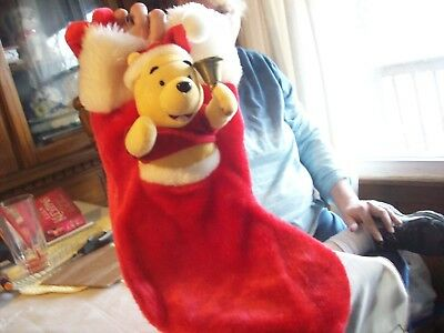 Christmas Disney  Pooh  Stocking   18 inches long   Very Detailed