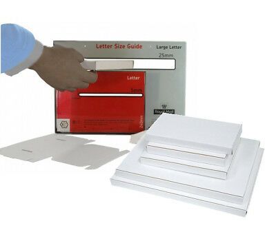 Royal Mail Large Letter and Small Parcel White Laminated PIP Boxes Box