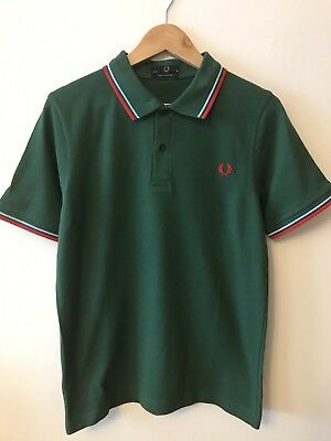 """7c527ffa1 NWT Men s Fred Perry M12 Polo Shirt. Size 40"""". Uk Medium MADE IN ..."""