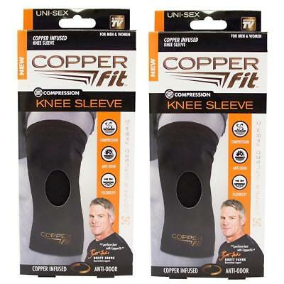2 x Copper Fit Infused Original Recovery Knee Sleeve Size M Compression Sleeve