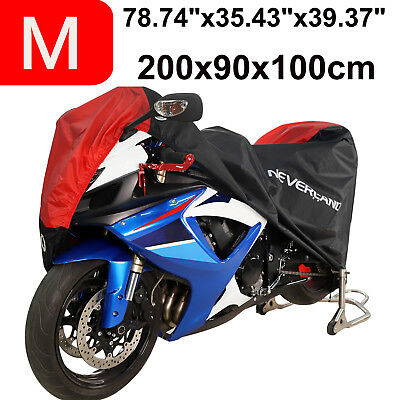 M Motorcycle Rain Cover Waterproof Outdoor Protector For Bike Scooter Motocross