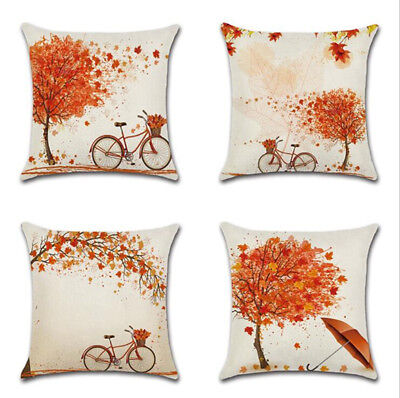 Autumn Fall Tree Maple leaf Throw Pillow Cover Decor Art Pillowcase Cushion Case