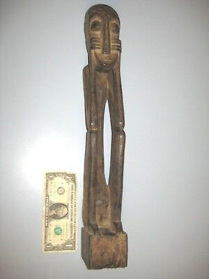 Vintage Wood Carved Tribal African Statue 19""