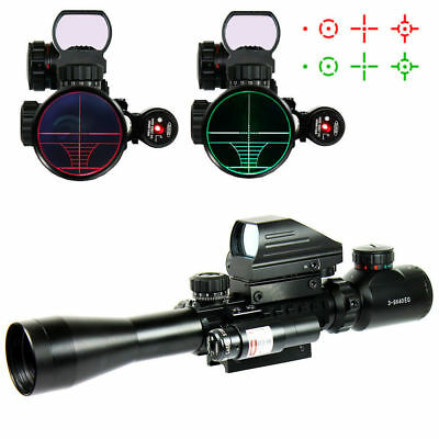 Optics 3-9x40 EG Tactical Hunting With Mini Holographic Sight Scope+Red Laser