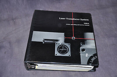 Hewlett Packard HP 5501 Laser Transducer Interferometer System Manual