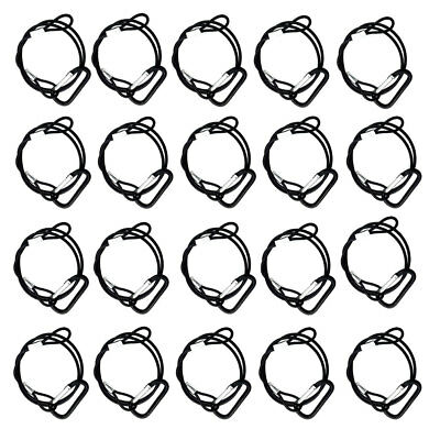 """20PCS Stage DJ Light Safety Cable Security Wire Line Cable 25.5"""" Stainless Steel"""