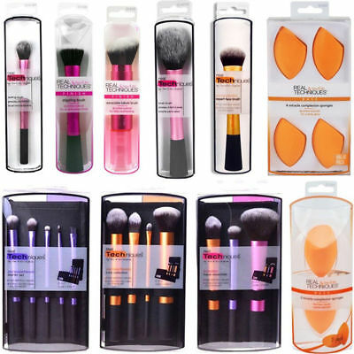 New Real Techniques Makeup Brushes Powder Core Collection Starter Kit Sponge UK