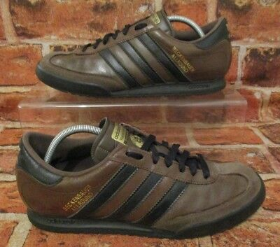 cheap for discount 142e0 29339 Adidas Beckenbauer Originals Trainers Size 7 Brown Leather Suede  Black  Stripes