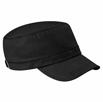 Beechfield Army / Cadet Cap One Size Adjustable In Black