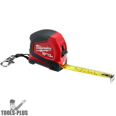 Milwaukee 48-22-6601 10'/3m Keychain Tape Measure with LED New