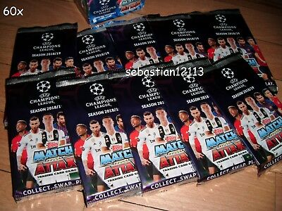 Topps Match Attax Champions League 2018/2019 New and closed 60 packs