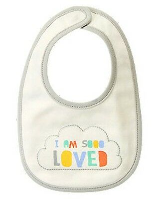 NWT~Gymboree CLOUD CUTIE I Am So Loved reversible cloud bib~OS