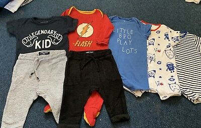Boys Next 6-9 Months Bundle Rompers Outfits Flash