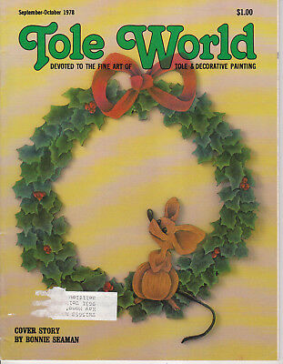 TOLE WORLD MAGAZINE - Sept-Oct 1978 - Very Good - Tole and Decorative Painting