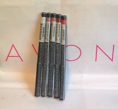 Avon Glimmersticks twist up-Lip Liners-coral-red-clear-pink-nude-chocolate-plum