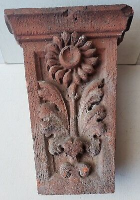 Antique, Terra Cotta KEYSTONE, Ornate, Decorative  Architectural Element