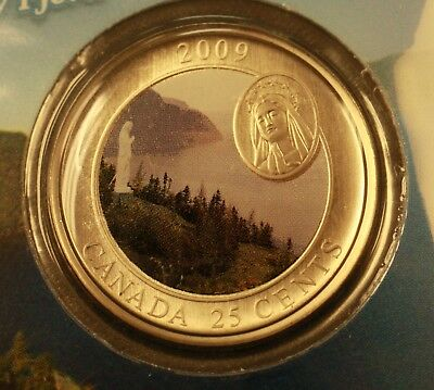 Canada 2009 25 cent Lady of the Saguenay Fjord sealed. 813