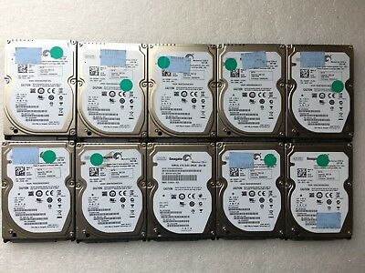 "LOT OF 10 Seagate 250GB 2.5"" Laptop SATA Hard Drives 7200RPM DELL HP Lenovo"