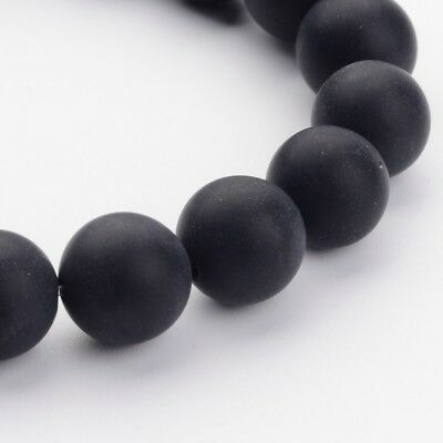 1 Strand Grade A Natural Matte Frosted Gemstone Round Loose Beads 16'' 10mm