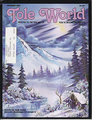 TOLE WORLD MAGAZINE - October 1985 - Very Good - Tole and Decorative Painting