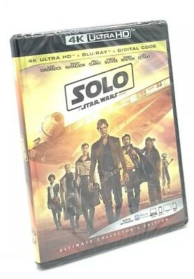 Solo: A Star Wars Story (4K UHD+Blu-ray+Digital Code, 2018) NEW