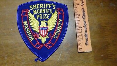 Washoe County Nevada Sheriff's Mounted Posse    Patch Bx 12 #22
