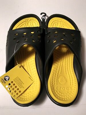 162688a4b658 CROCS UNISEX SCUTES-BLACK YELLOW-NWT-FREE Shipping -  19.99