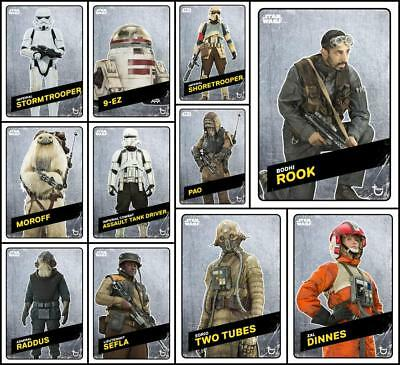 Topps Star Wars Card Trader ROGUE ONE CHALLENGERS [11 CARD STEEL SET] Pao/Bodhi+