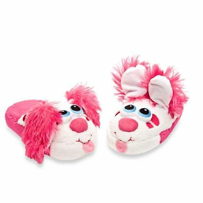 Stompeez  Perky Pink Puppy Slippers Size Small  Unisex (9-11) New In Box