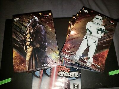 2018 Topps Star Wars Finest Complete Base Set 1-100 + 2 Wrappers FREE SHIPPING