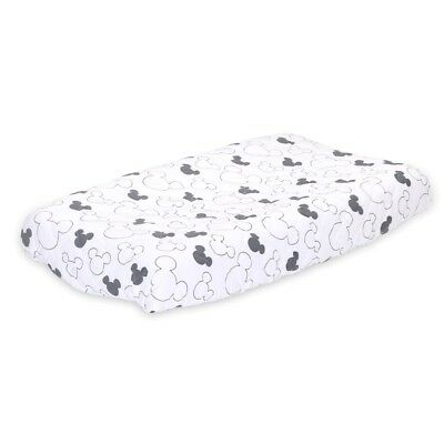 Disney Mod Mickey Quilted Changing Pad Cover - Grey Print