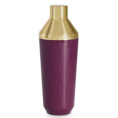 Bar Cocktail Drinks Shaker Mixer - Purple & Brushed Gold Party Gift Piece