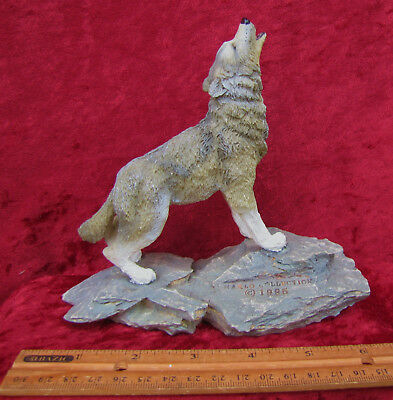 Vintage Collectible Marlo Collection Wolf Figurine From 1995