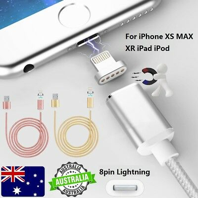 3A Magnetic LED Lightning USB 3.1 Data Fast Charger Cable for iPhone XS XR 8 7 6