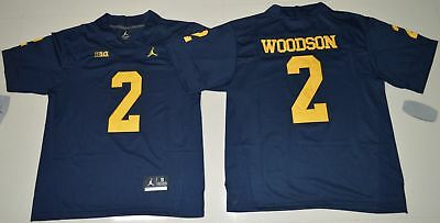 NEW Michigan Wolverines Charles Woodson  2 College Football Jersey - Navy  Blue 7460ea98b
