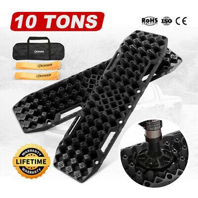 Black 4WD Recovery Tracks 10T Off Road 4x4 Sand Track Built in Farm Jack Base