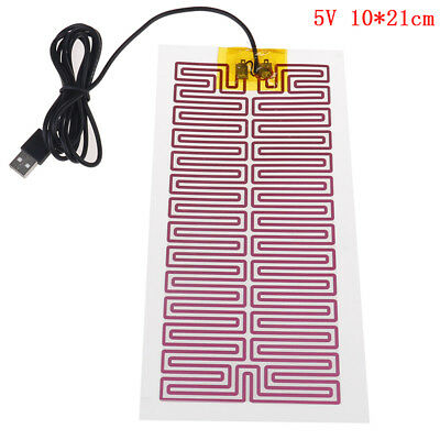 1X USB 5V 10CM*21CM Heating Heater Winter Warm Plate For Waist Shoes Pad HU
