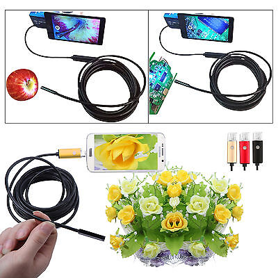 5.5/7mm 6LED Android Endoscope Waterproof Snake Borescope USB Inspection Camera