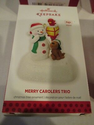2013 Hallmark Keepsake Ornament Merry Carolers Trio New NIB Old Stock